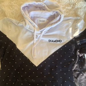 Diamond t-shirt hoodie - New Without Tags